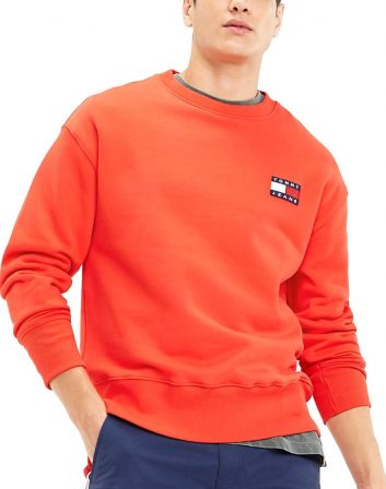 SUDADERA ROJA PARCHE TOMMY